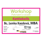 Workshop - Kettlebells, 3D Fitness s.r.o., Petr Peč